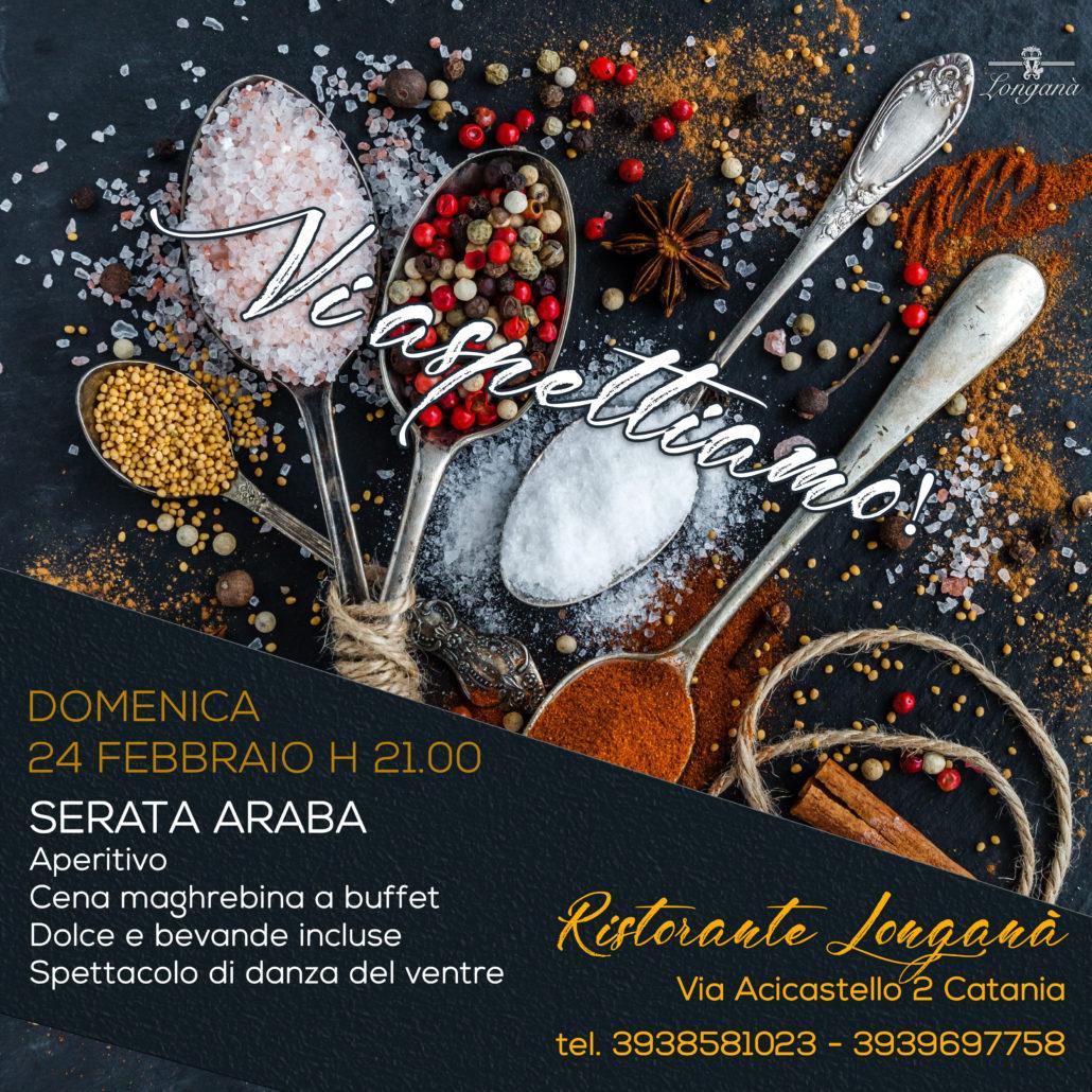 Serata araba a Catania Ristorante Longanà